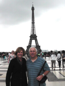 Susan and Charles with Eiffel Tower in background July 2014